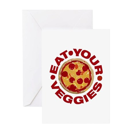 Pizza is not a Veggie Greeting Card