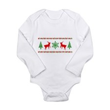 Ugly Christmas Sweater Long Sleeve Infant Bodysuit
