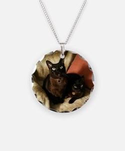 Burmese Cats on chair - Necklace