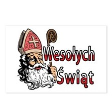 Wesolych Swiat St. Nicholas Postcards (Package of