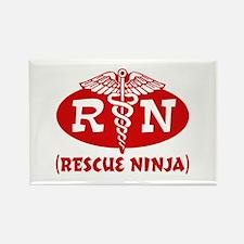 Rescue Ninja Nurse Rectangle Magnet