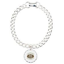 Vintage 50th Birthday Charm Bracelet, One Charm