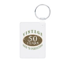 Vintage 50th Birthday Keychains