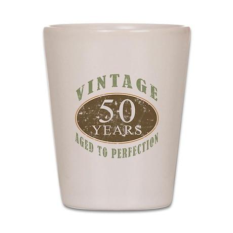 Vintage 50th Birthday Shot Glass