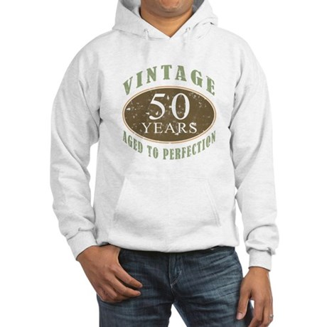 Vintage 50th Birthday Hooded Sweatshirt