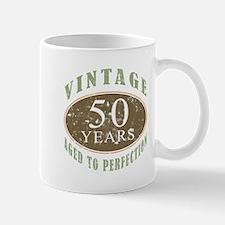 Vintage 50th Birthday Mug