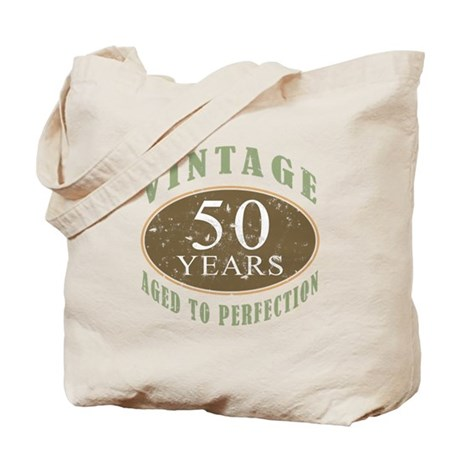 Vintage 50th Birthday Tote Bag