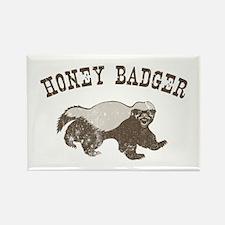 Vintage Honey Badger Rectangle Magnet
