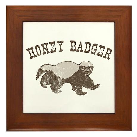 Vintage Honey Badger Framed Tile