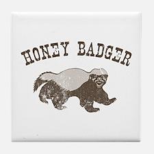 Vintage Honey Badger Tile Coaster