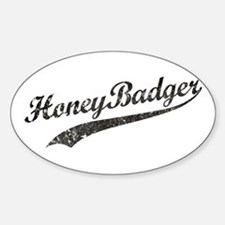 Team Honey Badger [b/w] Sticker (Oval)