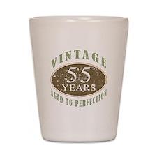 Vintage 55th Birthday Shot Glass