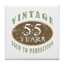 Vintage 55th Birthday Tile Coaster