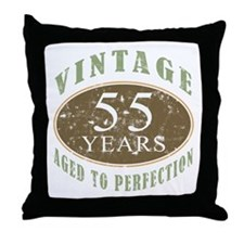 Vintage 55th Birthday Throw Pillow