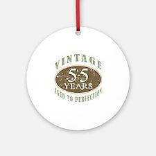 Vintage 55th Birthday Ornament (Round)