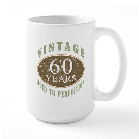 Vintage 60th Birthday Large Mug