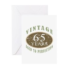 Vintage 65th Birthday Greeting Card