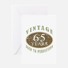 Vintage 65th Birthday Greeting Card