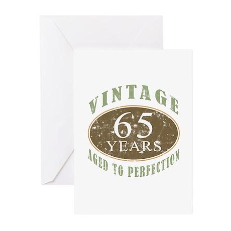 Vintage 65th Birthday Greeting Cards (Pk of 20)