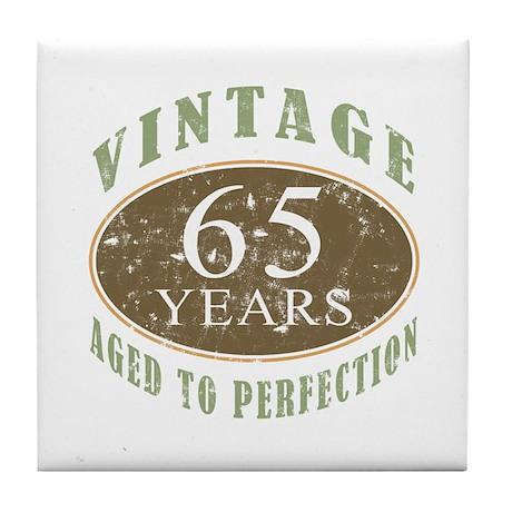 Vintage 65th Birthday Tile Coaster