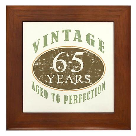 Vintage 65th Birthday Framed Tile