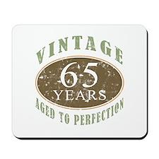 Vintage 65th Birthday Mousepad