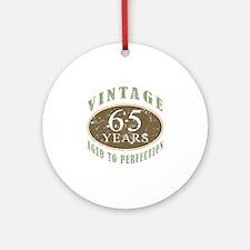 Vintage 65th Birthday Ornament (Round)