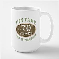 Vintage 70th Birthday Large Mug