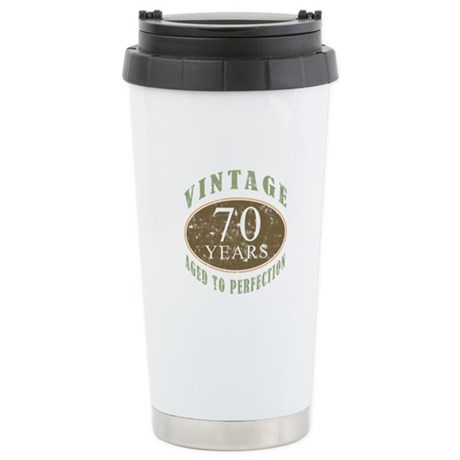 Vintage 70th Birthday Stainless Steel Travel Mug