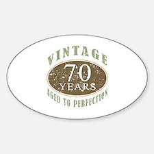 Vintage 70th Birthday Sticker (Oval)