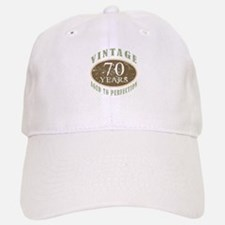 Vintage 70th Birthday Baseball Baseball Cap