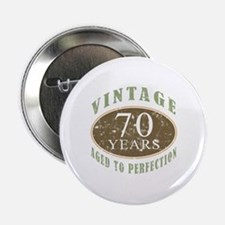 "Vintage 70th Birthday 2.25"" Button"