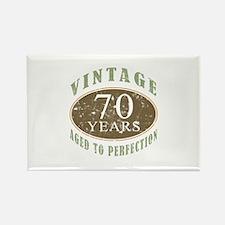 Vintage 70th Birthday Rectangle Magnet