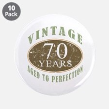 "Vintage 70th Birthday 3.5"" Button (10 pack)"