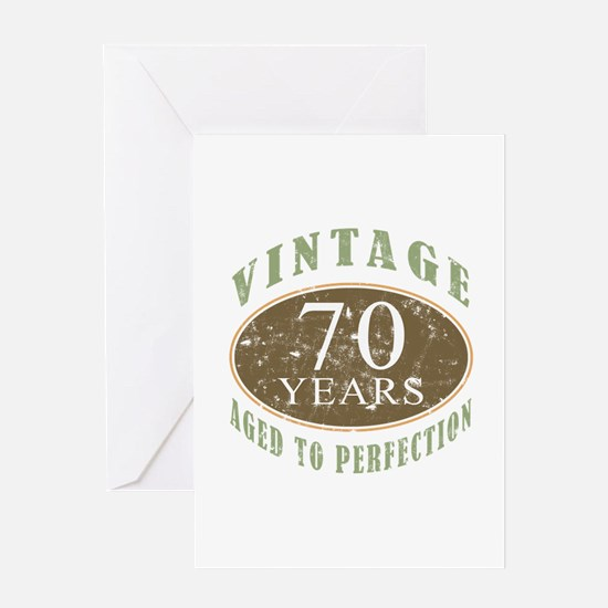Vintage 70th Birthday Greeting Card