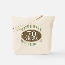 Vintage 70th Birthday Tote Bag
