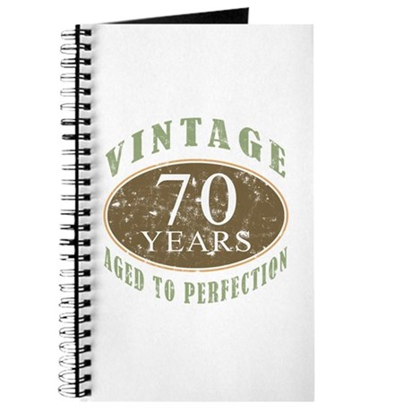 Vintage 70th Birthday Journal