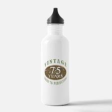 Vintage 75th Birthday Water Bottle