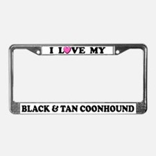 Love My Black & Tan Coonhound License Plate Fr