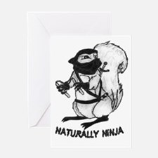 Naturally Ninja Greeting Card