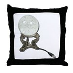 USB Crystal Ball Throw Pillow