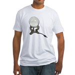 USB Crystal Ball Fitted T-Shirt