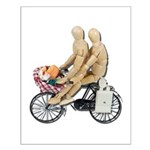 Two on Bike Picnic Basket Small Poster