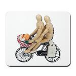 Two on Bike Picnic Basket Mousepad