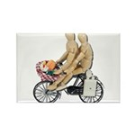 Two on Bike Picnic Basket Rectangle Magnet (10 pac