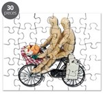 Two on Bike Picnic Basket Puzzle