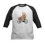 Two on Bike Picnic Basket Kids Baseball Jersey