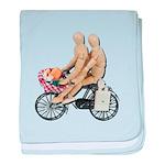 Two on Bike Picnic Basket baby blanket