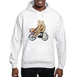 Two on Bike Picnic Basket Hooded Sweatshirt