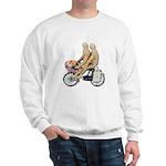 Two on Bike Picnic Basket Sweatshirt